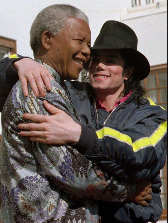 Michael Jackson, nelson Mandela